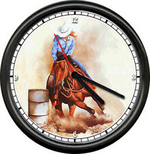 Barrel Racer Racing Horse Equestrian Western Rodeo Girl Sign Art Wall Clock #58