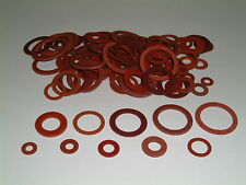 100 Assorted Red Fibre Washers ranging from M3-M18