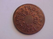 OLD TRADE TOKEN COIN ANSPACH BRUSSELS BELGIUM BOURSE RESTAURANT 2.25 FRANCS 1920