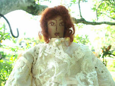ARTURO E.REYNA Victorian Style One Of A Kind Signed Rag DoLL
