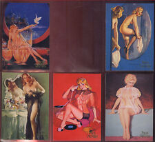 PINUPS UNCOVERED -  Five Card Boudoir Beauties Chase Set