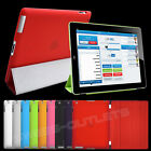 Ultra Slim Magnetic Smart Leather Cover w/ Hard Back Case for Apple iPad 2 3 4