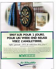 Publicité Advertising 1995 TGV Train Le Shuttle navette Eurotunnel