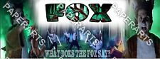 What Does The Fox Say Banner Personalized Poster - Have your name on the it