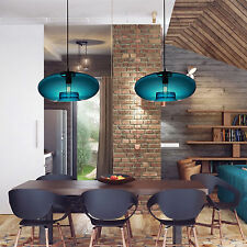 Modern Blue Glass Ball Chandelier Ceiling Fixture Light Lighting Pendant Lamp US