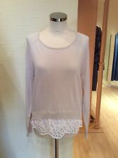 Oui Sweater Size 18 Beige With White Trim BNWT RRP £109 Now £33