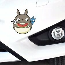 Cute Totoro Cat Eat Watermelon Random Body Window Truck Car Stickers Wall Decals