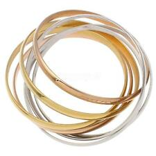 7pcs/set Silver/Gold/Rose Gold Jewelry Stainless Steel Women's Bangle Bracelet