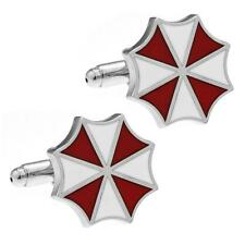RESIDENT EVIL CUFFLINKS Umbrella Corp Metal Enamel NEW w GIFT BAG Wedding Groom