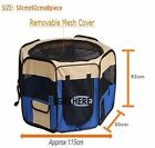 NEW DOG PET EXERCISE PLAY PEN PORTABLE TENT PLAYPEN PET CRATE CAGE 8 PANEL BLUE