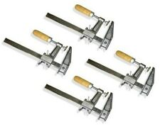 "Lot of 4: 12"" Inch BAR CLAMPS Heavy Duty Woodworking Wood Carpenter Tools"