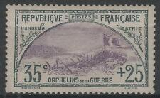 """FRANCE STAMP TIMBRE N° 152 """" ORPHELINS 35c+25c TRANCHEE DRAPEAU """" NEUFxx TB N626"""