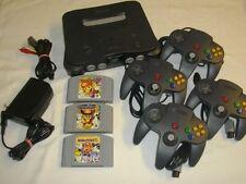Nintendo 64 + 4 Controller + Mario Party 1 + 2 + 3