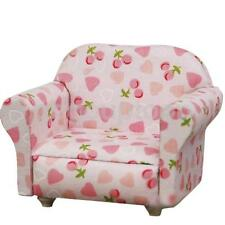 Dolls House Bedroom Miniature Soft Sofa chair loveseat Furniture Pink Floral