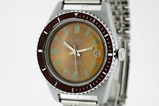 BULER 6ATM Vintage DIVER Watch Orange Tritium Dial Automatic Cal. BFG 158 (2724)