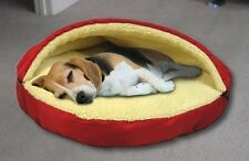Deluxe Large Pet Bed in Red - Sleeping Dog Cave