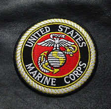 USMC MARINE EMBROIDERED   Military HOOK PATCH