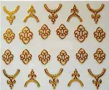 3D Nail Art Decals Transfer Stickers Gold Coloured Charms (3D6017)