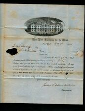 1846 NYC-ROME-UTICA forwarded New York Institute for the Blind Yearly Invoice