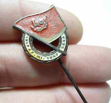 Soviet Czech Friendship Union 40th Anniversary Russian Flag Pin Badge 1957SCSP