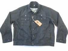 ROCAWEAR DISTRESSED 025 GRAY BLACK LIGHT COATED 48 DENIM JEAN JACKET MENS NWT