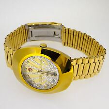 Rado Gold Diastar Automatic Swiss Made Man's Genuine Diamonds 18K PVD GOLD