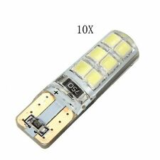 10x T10 194 W5W COB 2835SMD 12LED Car CANBUS Error Free License Light Bulb White