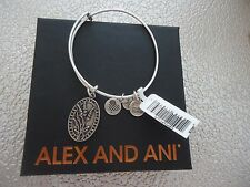 Alex and Ani Because I Love You AUNT II Russian Silver Bangle New W/ Card & Box
