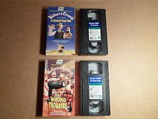 Tested ! Lot of 2 Wallace & Gromit VHS The Wrong Trousers & A Grand Day Out BBC