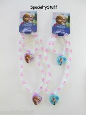 2 NEW DISNEY FROZEN NECKLACE & BRACELET 1 ANNA / ELSA 1 OLAF 1 OF EACH (ON)