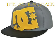 J5 - DC Shoes Ya Heard Hat / Cap * NWT Mens Large / XL Flexfit Grey - #25183