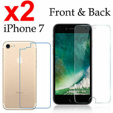 x2 Anti-scratch 4H PET film screen protector Apple iphone 7 front + back