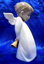 SHY LITTLE ANGEL HOLDING BELL 2016 FIGURINE NAO BY LLADRO  #1889