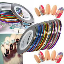 30 Farben Aufkleber Nagel Folie Nail Art Sticker Striping Tattoo Tips Maniküre