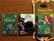 Timeless Tales LITTLE MERMAID ARIEL URSULA Hinged Book Pin Disney LE3000