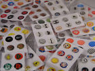 6 HOME BUTTON STICKERS FOR APPLE IPHONE 4 4S 5 5C & IPAD IPOD