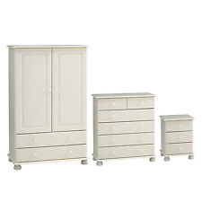 Richmond White Nursery Bedroom Furniture Set Wardrobe Chest of Drawers & Bedside