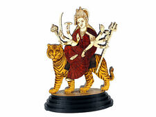 Car Dashboard Statue Religious Hindu God Durga Mata Wood Carved figurine