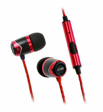 SoundMAGIC E10S In Ear Isolating Earphones with Mic - Black & Red - NEW