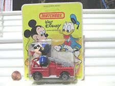 Lesney Matchbox 1979 Walt Disney WD1 Mickey Mouse Fire Engine NO Ladder Hook MiP