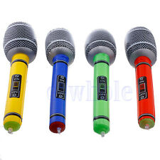 2 Inflatable Blow Up Microphone Music Instrument Toy Party Kids Birthday Gift WT