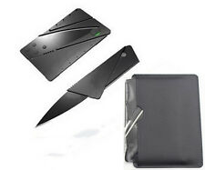 Multi-function Pocket Credit Card Fold Survival Knife Outdoor Camping Tools