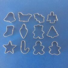 12 x CHRISTMAS Mini FESTIVE Cutters Cupcake Fondant Baking Cookie Cake XMAS