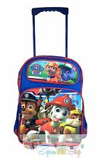 "Nickelodeon Paw Patrol Large School Roller Backpack 16"" Trolley Rolling Bag"