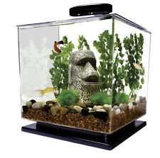 Betta Fish Tank With Filter Aquarium Kit Cube 3 Gallon Water Small Pet Goldfish