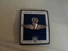 US MILITARY INSIGNIA MASTER PARACHUTE WINGS CHROME FOR NAVY I THINK MEYER