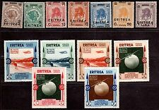 ITALY ERITREA 1922,1932 Sc. 58-64, 175-180 MINT, NEVER HINGED