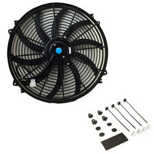 16″ inch Universal Slim Fan Push Pull Electric Radiator Cooling 12V+Mount Kit