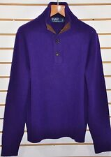 Men's Polo Ralph Lauren, Wool-Angora 1/2 Button Mock-Neck Sweater. Sz. M.