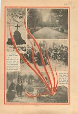 Flamme Tombe Soldat Inconnu Arc de Triomphe Place de L'Etoile 1935 ILLUSTRATION